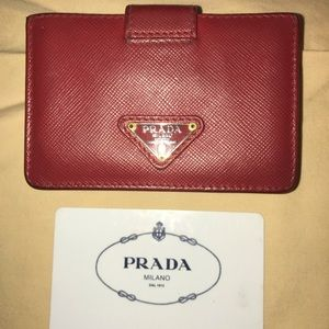 Red PRADA small wallet